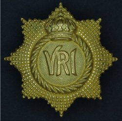 One piece gilt officer's badge.