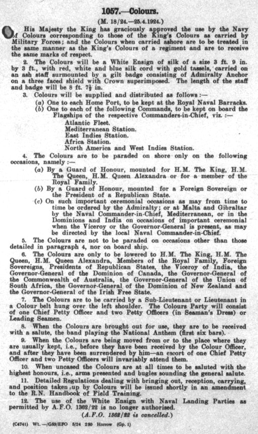 Fleet Order 12057/1924