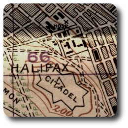 The 1928 map of Halifax shows the changes in construction in the Glacis Barracks and Churchfield areas.