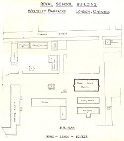 Wolseley Barracks site plan (partial); 1937