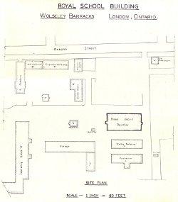 Wolseley Barracks site plan (partial); 1937