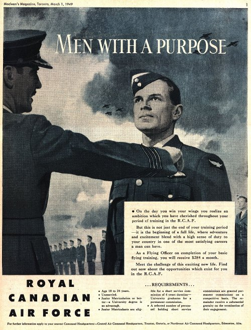 RCAF recuiting advertisement; 1949