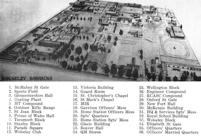 Wolseley Barracks; 1958