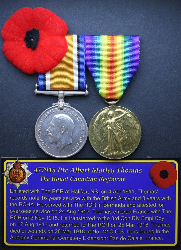 477915 Pte Albert Morley Thomas