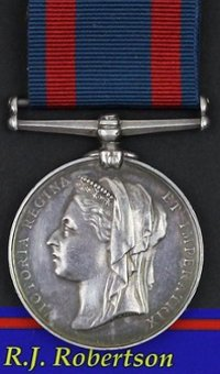 1885 Medal to Private RJ Robertson