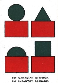 Shoulder flashes of the 1st Canadian Infantry Brigade