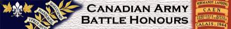 Canadian Army Battle Honours