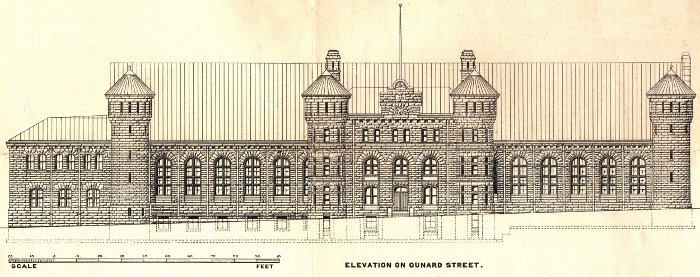 Cunard Street elevation