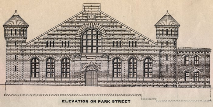 Halifax Armouries, Park Street elevation