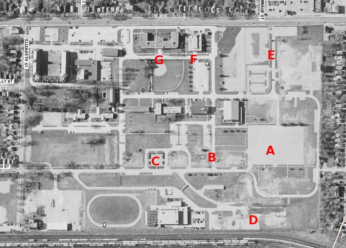 Wolseley Barracks, 1998 aerial photo (smaller version)