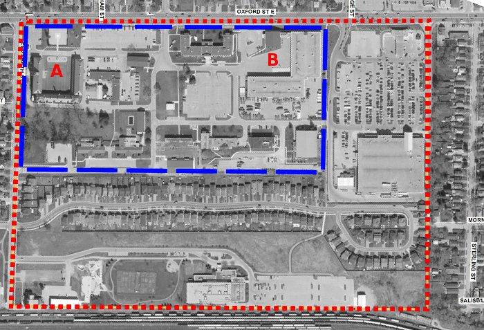 Wolseley Barracks, 2012 aerial photo (smaller version)